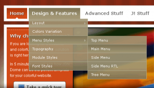 Website menu styles